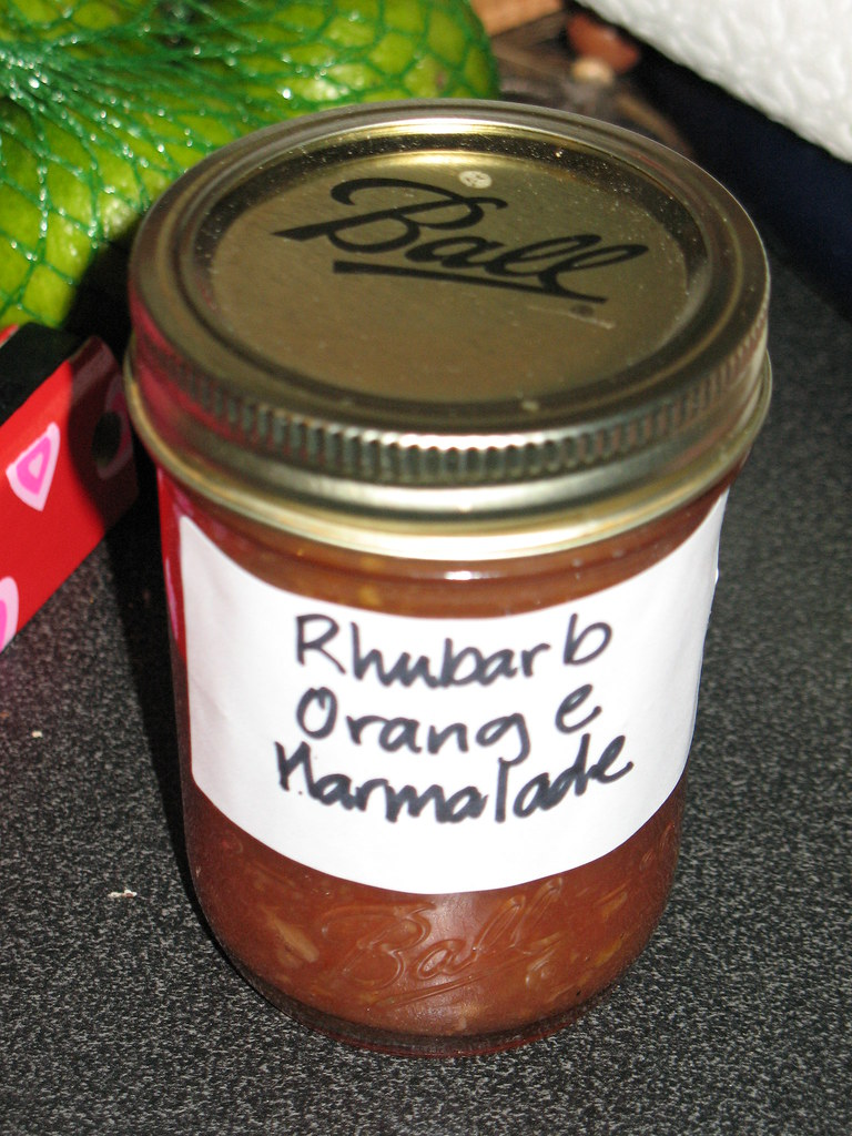 Rhabarb Orange Marmelade