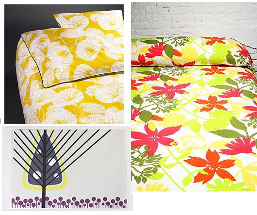 yellow textiles