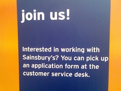 Interested in working with Sainsbury's