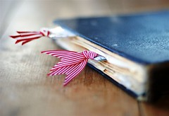 old fashioned girl (*sapa*) Tags: vintage book ribbons pages stripes happiness bookmarks  simplethings frontpageexplore infinestyle grandmasrecipebook
