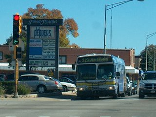 Westbound Pace bus at Grand and Thatcher Avenues. River Grove Illinois. October 2006.
