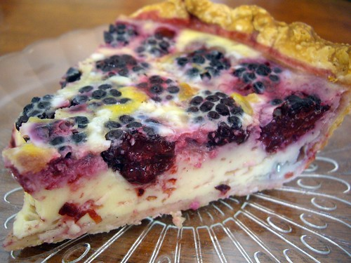 Blackberry Custard Pie slice