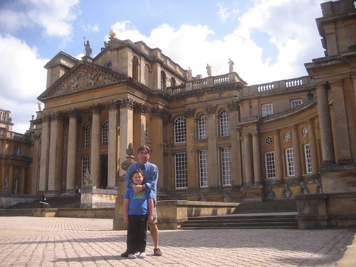 My son and I at Blenheim Palace