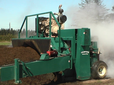 Windrow Compost Turner, image courtesy of Frontier Industrial