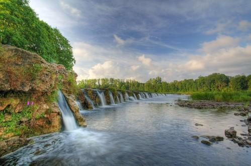 Venta falls in Kuldiga, Latvia