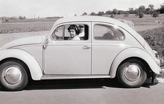 Mother and VW 1955 Germany (juliealicea1947) Tags: vw germany volkswagen mother 1950s