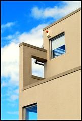 Windows and Sky (timmelm) Tags: blue sky detail building window glass up wall architecture clouds g bluesky auckland picnik d40x photofaceoffwinner pfogold herowinner