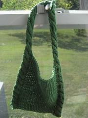 Modern double-cabled bib (durandir) Tags: baby knit bibs moderncabledbib