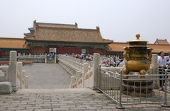 Looking back towards the Gate of Heavenly Purity (Gunther Moons) Tags: china asia beijing courtyard forbiddencity 2008 peking innercourt palaceofheavenlypurity raisedplatform gateofheavenlypurity