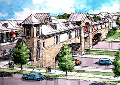 Florence's Ponte Vecchio? No, Leander's overpass (by: Gateway Planning Group)