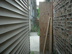 7711 N Ashland unsecured rear entry