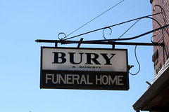 Bury (hopefuldoubtful) Tags: sign bury easilyamused funeralhome