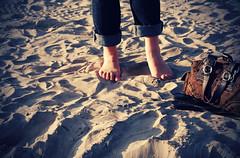 Beach Feet (jami_lee) Tags: summer feet beach coach toes pants footprints