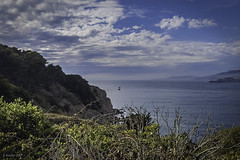 San Francisco: Lands End and Mile Rocks Overlook (Greatest Paka Photography) Tags: sanfrancisco california lighthouse marin goldengate bayarea sanfranciscobay lincolnpark marinheadlands topaz lovelyclouds milerockslighthouse milerocksoverlook