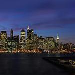 Brooklyn Skyline and Brooklyn Bridge Park when under construction