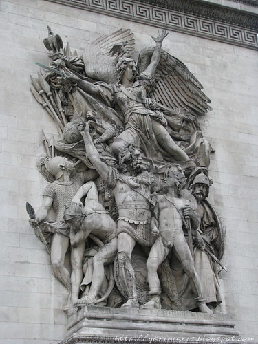 Sculpture of the Arc de Triomphe