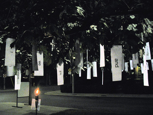 Nuit Blanche Cabbagetown: The Poet Tree