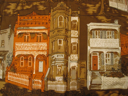 Vintage fabric - terrace houses