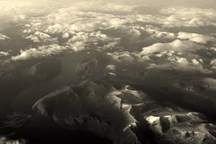 Somewhere over Alaska (... Arjun) Tags: above 15fav usa mountains topf25 monochrome alaska sepia clouds 1025fav america 510fav river airplane nikon unitedstatesofamerica over dream ak surreal aerialview 100v10f aeroplane aerial here 2550fav stunning northamerica d200 someplace toned 2008 somewhere everywhere anywhere usofa wherever 26mm somewhereoveralaska ontopof 18200mmf3556g bluelist everyplace