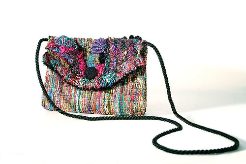 silk & scrumbles freeform purse by Prudence Mapstone