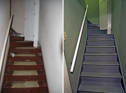 Basement Stairway - Bottom looking Up