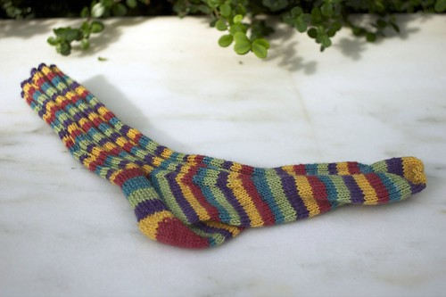 Ridges and Ribs sock