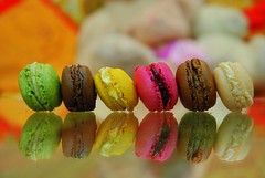 maCroons  (~lolaa~) Tags: pink brown yellow dark chocolate 333 reflction macroons 6aaar pishtasio
