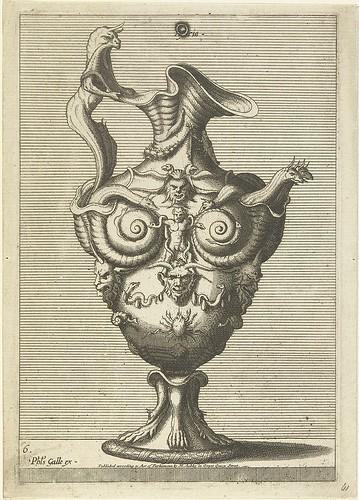 Hydriatitel - grotesque 16th century jug