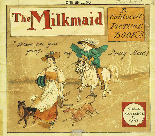 009- The milkmaid  an old song exhibited & explained in many designs 1882