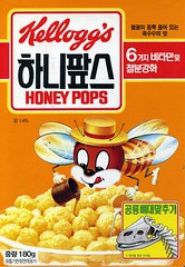 Honey Pops cereal box
