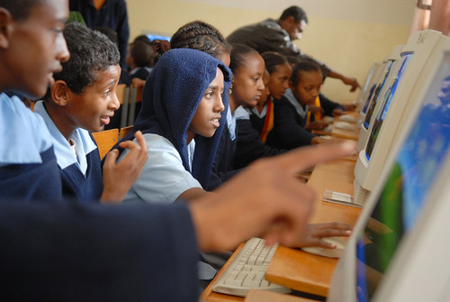 Children in Ethiopia put PCs donated to Computer Aid to good use