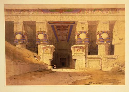 012- Dendera- David Roberts- 1838