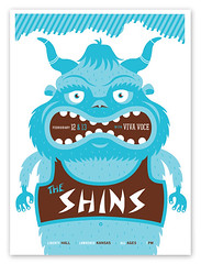 The Shins Top (tad carpenter) Tags: illustration poster silkscreen tad carpenter