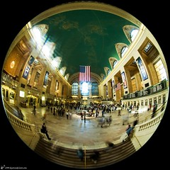 Grand Central Terminal (digitizedchaos) Tags: nyc fisheye grandcentralterminal top20fisheye circularfisheye sigma45