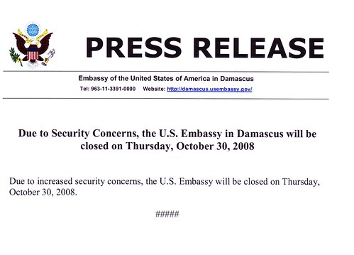 US State Dept press release