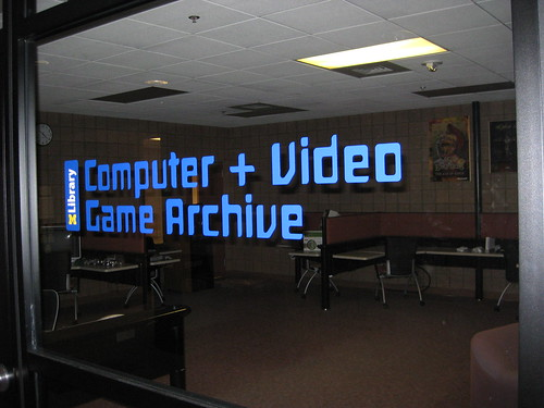 Computer & Video Game Archive Sign