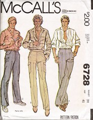 McCall's 6728 (AmyCathryn) Tags: men art illustration vintage pants sewing patterns 1979 mccalls