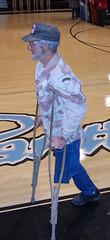 Honor Veteran 11-11-08 (goatmanbaldy - Proud Extremist Right Wing Wacko) Tags: veteran crutches amputee tbg
