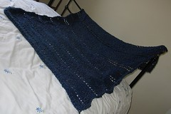 Blue lap blanket