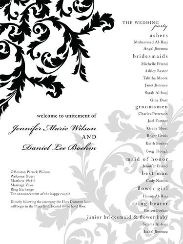 knit girl just listed wedding program poster