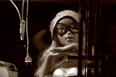 (Ioannis Karydis) Tags: mannequin sepia glasses doll wordpress wired current