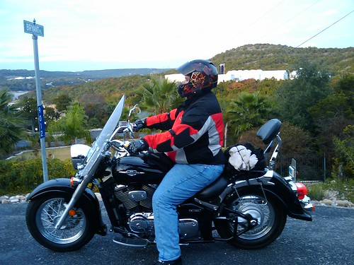 Me on my Suzuki S80