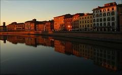 Baiori di Tramonto sull'Arno (Emanuele Bis) Tags: sunset italy reflection italia tramonto pisa arno toscana riflessi canonofeverythingandmore baiori