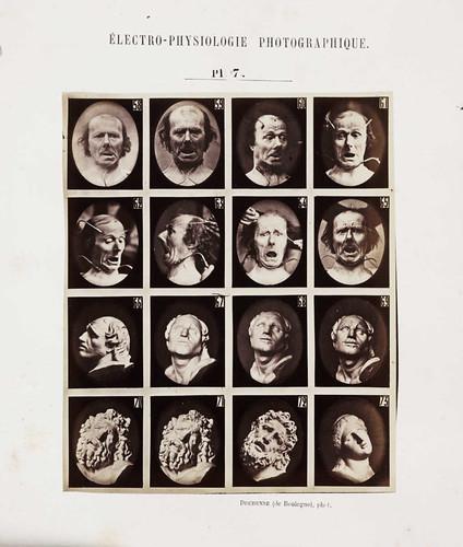 """Página """"Mecanisme de la physionomie Humaine"""" por el Museo Nacional de Medios"""