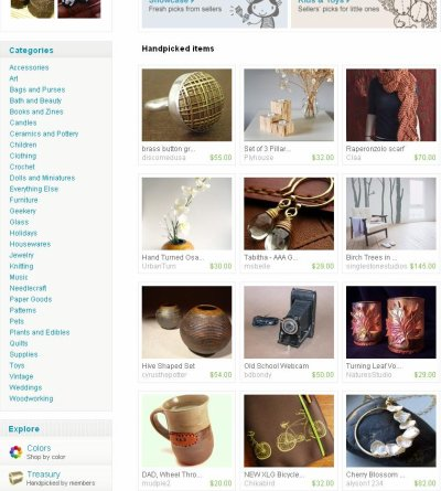 Etsy Front Page 12.08.08