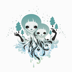 winter spirits ( -  zutto) Tags: winter lafraise teedesign vectorcharacters
