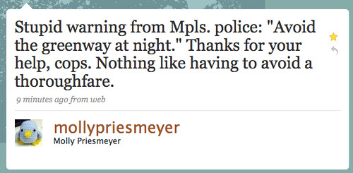 Molly on MPLS Cops & Greenway