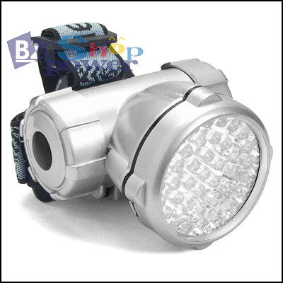 40 Led Bright Flashlight Headlight Torch Headlamp Lamp