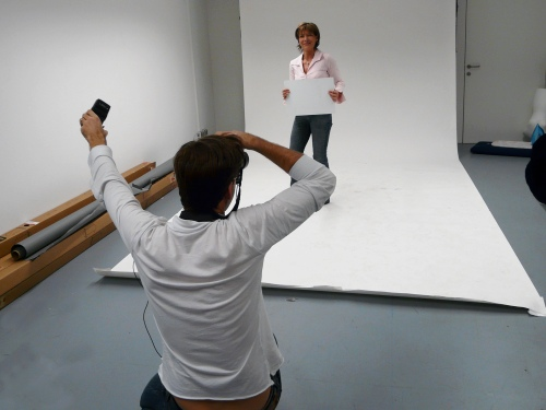 Omi beim Shooting