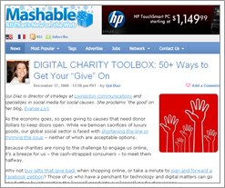 Mashable Digital Charity Toolbox